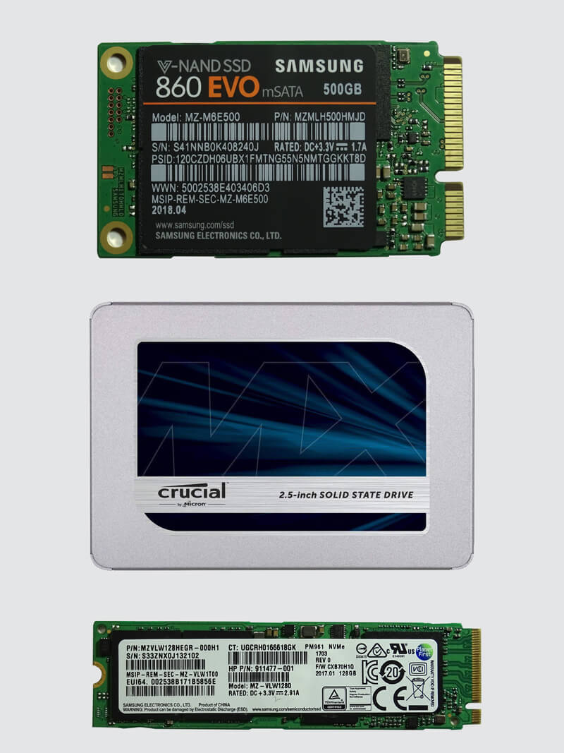 We can fit all types of SSD drives to greatly improve the performance of your computer system
