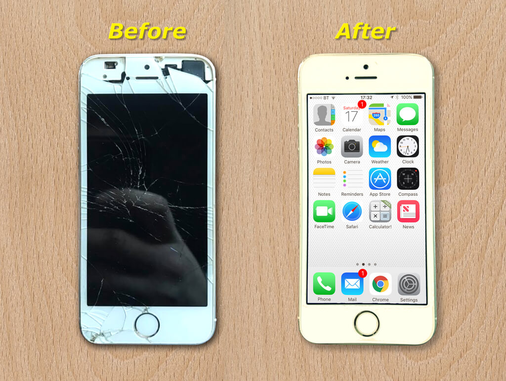 iPhone repair before and After