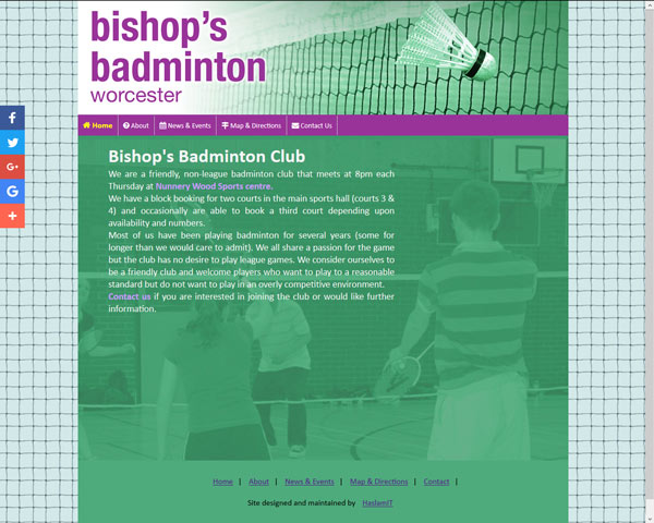 Bishops-Badminto website