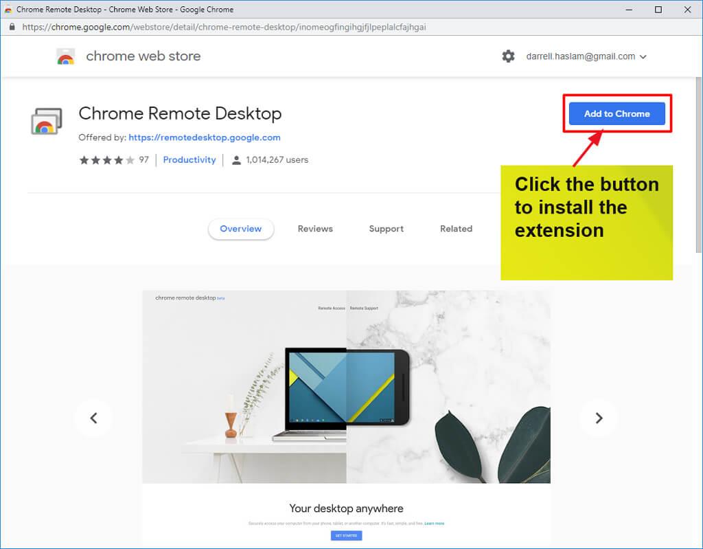Setting up Google Remote Desktop