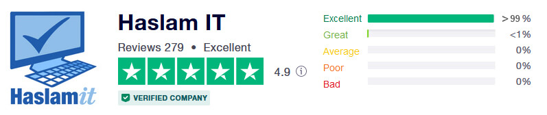 Five star rating on TrustPilot